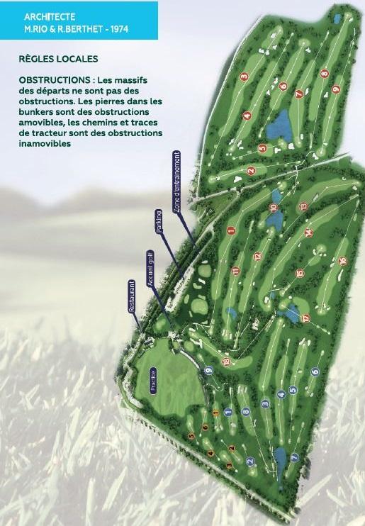 Plan du parcours golf Saint Aubin